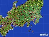 関東・甲信地方のアメダス実況(気温)(2020年08月31日)