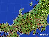 北陸地方のアメダス実況(気温)(2020年08月31日)