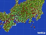 2020年08月31日の東海地方のアメダス(気温)
