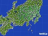 関東・甲信地方のアメダス実況(風向・風速)(2020年08月31日)