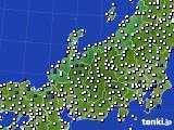 北陸地方のアメダス実況(風向・風速)(2020年08月31日)