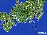 東海地方のアメダス実況(風向・風速)(2020年08月31日)