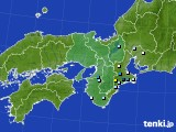 近畿地方のアメダス実況(降水量)(2020年09月01日)