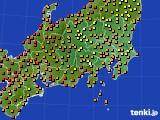 関東・甲信地方のアメダス実況(気温)(2020年09月01日)