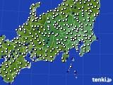 関東・甲信地方のアメダス実況(風向・風速)(2020年09月01日)