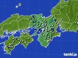 近畿地方のアメダス実況(降水量)(2020年09月02日)