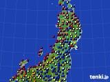 東北地方のアメダス実況(日照時間)(2020年09月02日)