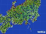 2020年09月02日の関東・甲信地方のアメダス(日照時間)
