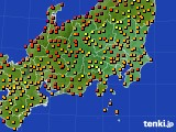 関東・甲信地方のアメダス実況(気温)(2020年09月02日)