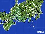 2020年09月02日の東海地方のアメダス(風向・風速)