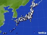 2020年09月02日のアメダス(風向・風速)