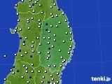 岩手県のアメダス実況(風向・風速)(2020年09月02日)