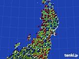 東北地方のアメダス実況(日照時間)(2020年09月03日)