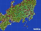 関東・甲信地方のアメダス実況(気温)(2020年09月03日)