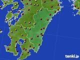 宮崎県のアメダス実況(気温)(2020年09月03日)