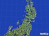 東北地方のアメダス実況(風向・風速)(2020年09月03日)