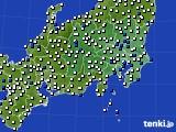 関東・甲信地方のアメダス実況(風向・風速)(2020年09月03日)
