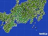 2020年09月03日の東海地方のアメダス(風向・風速)