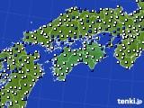 四国地方のアメダス実況(風向・風速)(2020年09月03日)