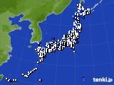 2020年09月03日のアメダス(風向・風速)