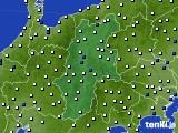 長野県のアメダス実況(風向・風速)(2020年09月03日)