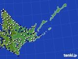 道東のアメダス実況(風向・風速)(2020年09月03日)