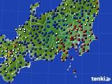 2020年09月04日の関東・甲信地方のアメダス(日照時間)