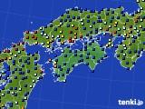 四国地方のアメダス実況(日照時間)(2020年09月04日)