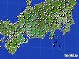 東海地方のアメダス実況(風向・風速)(2020年09月04日)