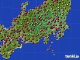 関東・甲信地方のアメダス実況(気温)(2020年09月05日)