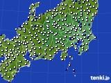 関東・甲信地方のアメダス実況(風向・風速)(2020年09月05日)