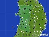 2020年09月06日の秋田県のアメダス(風向・風速)