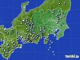 関東・甲信地方のアメダス実況(降水量)(2020年09月07日)