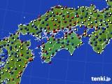四国地方のアメダス実況(日照時間)(2020年09月07日)