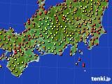 2020年09月07日の東海地方のアメダス(気温)