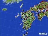 九州地方のアメダス実況(気温)(2020年09月07日)