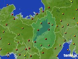 滋賀県のアメダス実況(気温)(2020年09月07日)