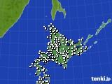 北海道地方のアメダス実況(風向・風速)(2020年09月07日)