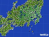 関東・甲信地方のアメダス実況(風向・風速)(2020年09月07日)