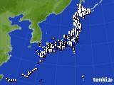 2020年09月07日のアメダス(風向・風速)