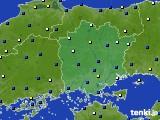 岡山県のアメダス実況(風向・風速)(2020年09月07日)