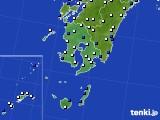 鹿児島県のアメダス実況(風向・風速)(2020年09月07日)