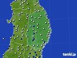 岩手県のアメダス実況(風向・風速)(2020年09月07日)
