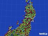 東北地方のアメダス実況(日照時間)(2020年09月08日)