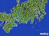 2020年09月08日の東海地方のアメダス(風向・風速)