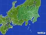 関東・甲信地方のアメダス実況(降水量)(2020年09月09日)