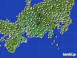 東海地方のアメダス実況(風向・風速)(2020年09月09日)