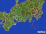 2020年09月11日の東海地方のアメダス(気温)