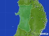 秋田県のアメダス実況(降水量)(2020年09月12日)