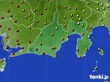 2020年09月12日の静岡県のアメダス(気温)